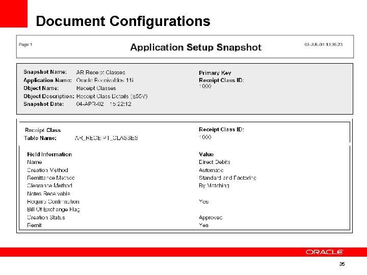 Document Configurations 35