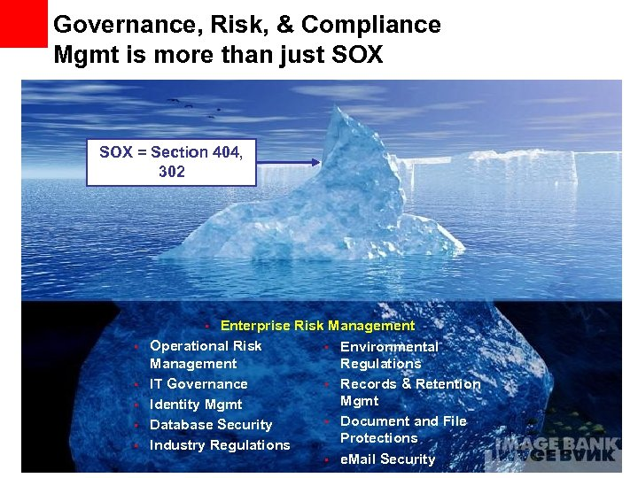 Governance, Risk, & Compliance Mgmt is more than just SOX = Section 404, 302