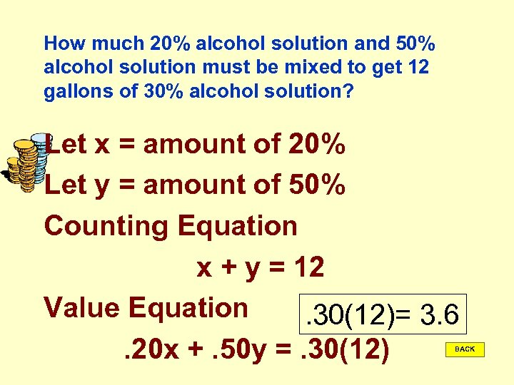 How much 20% alcohol solution and 50% alcohol solution must be mixed to get