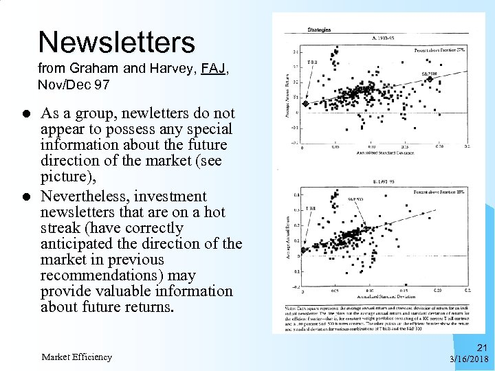 Newsletters from Graham and Harvey, FAJ, Nov/Dec 97 l l As a group, newletters
