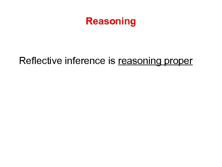 Reasoning Reflective inference is reasoning proper