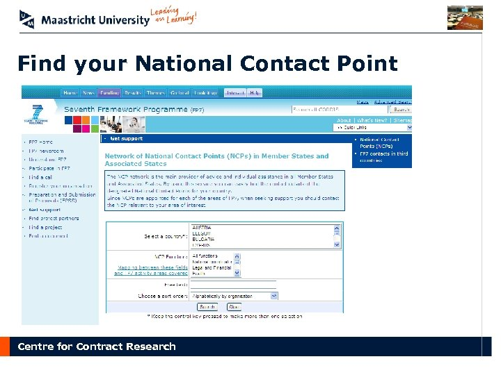 Find your National Contact Point Centre for Contract Research