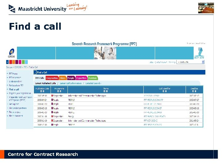 Find a call Centre for Contract Research