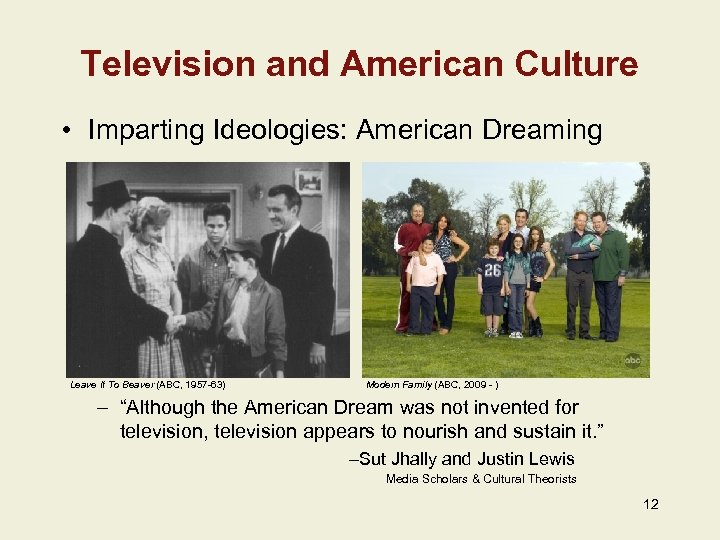 Television and American Culture • Imparting Ideologies: American Dreaming Leave It To Beaver (ABC,