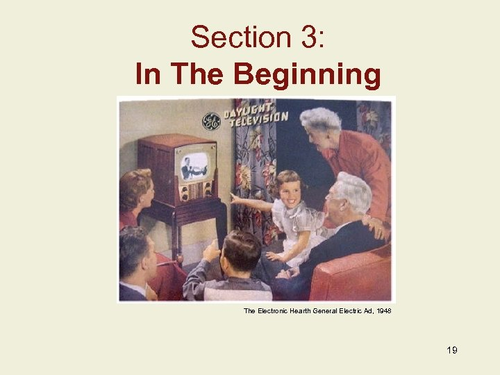 Section 3: In The Beginning Insert Image Here Add Image Caption w/ Credits Here