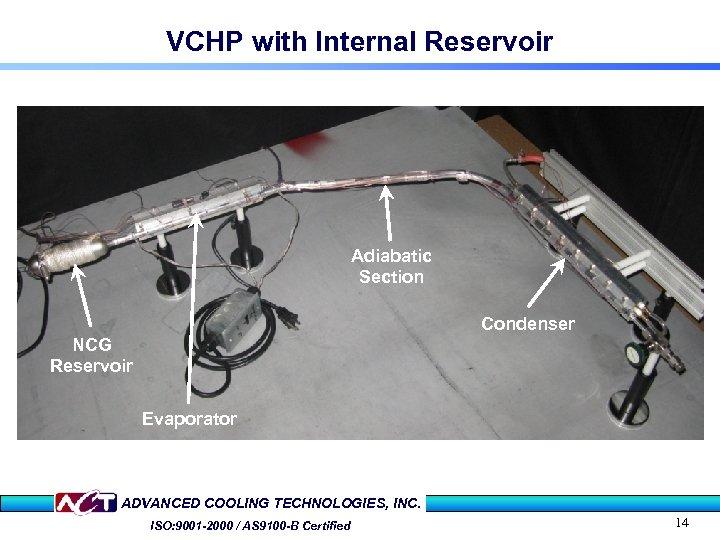 VCHP with Internal Reservoir Adiabatic Section Condenser NCG Reservoir Evaporator ADVANCED COOLING TECHNOLOGIES, INC.