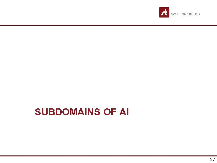 SUBDOMAINS OF AI 57 57