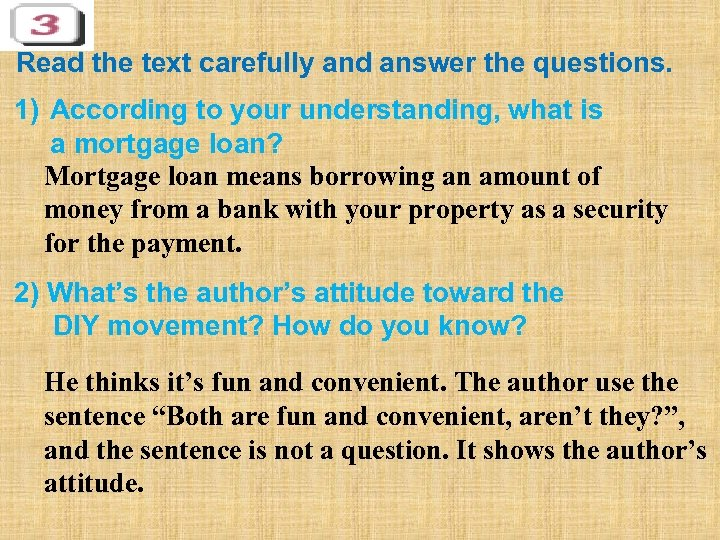 Read the text carefully and answer the questions. 1) According to your understanding, what