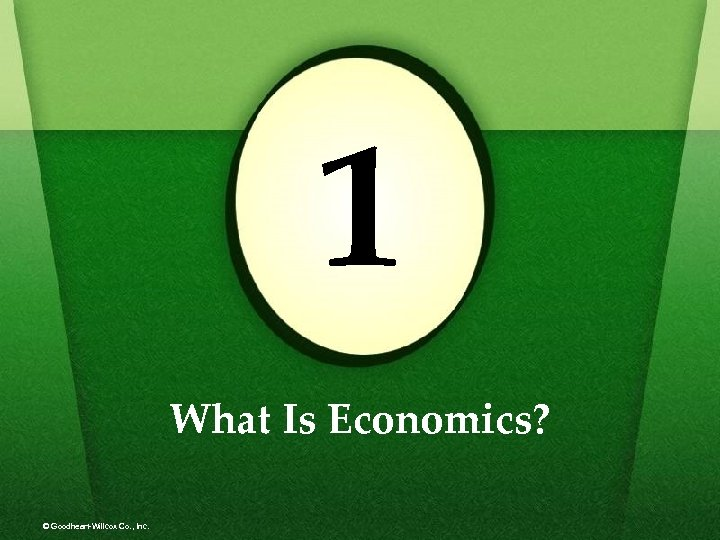 1 What Is Economics? © Goodheart-Willcox Co. , Inc.