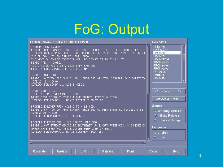 Fo. G: Output 11