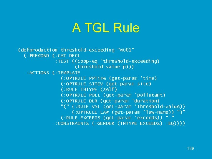A TGL Rule (defproduction threshold-exceeding