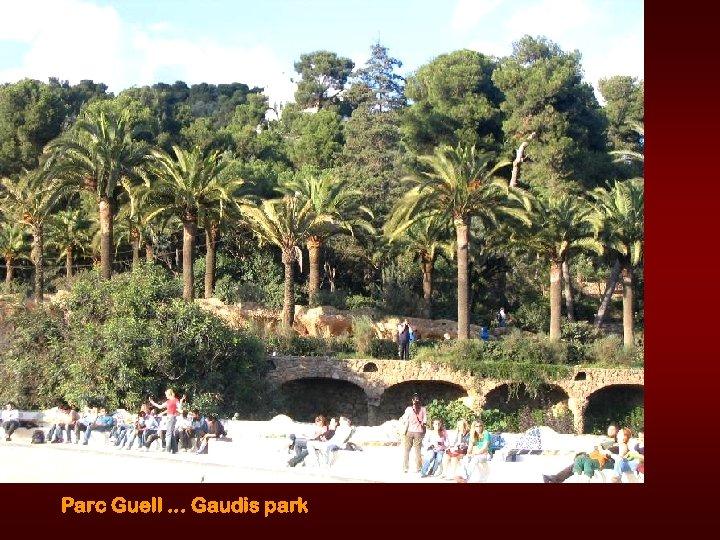 Parc Guell. . . Gaudis park