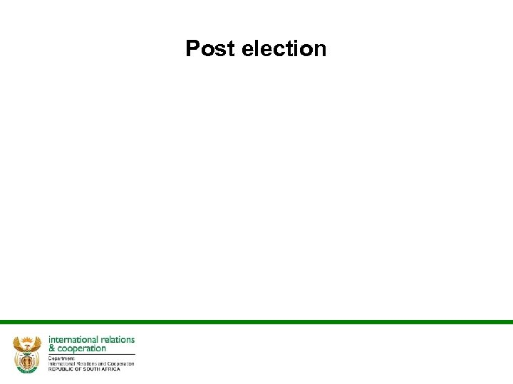 Post election