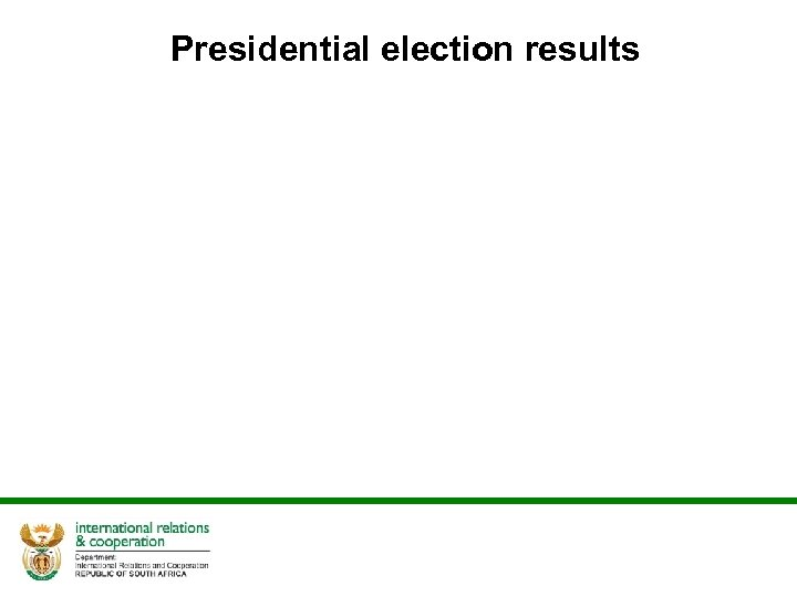 Presidential election results