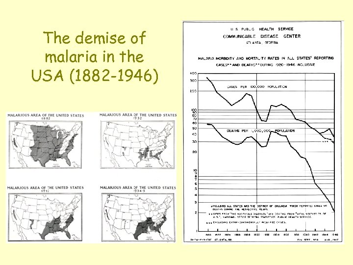 The demise of malaria in the USA (1882 -1946)