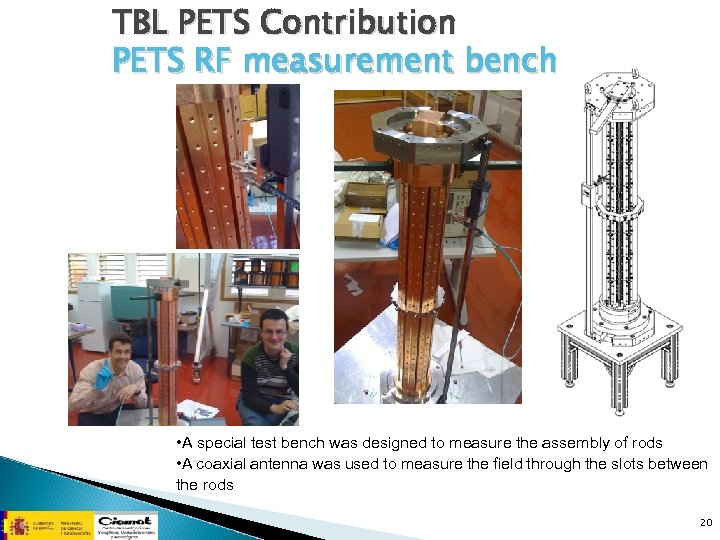 TBL PETS Contribution PETS RF measurement bench • A special test bench was designed