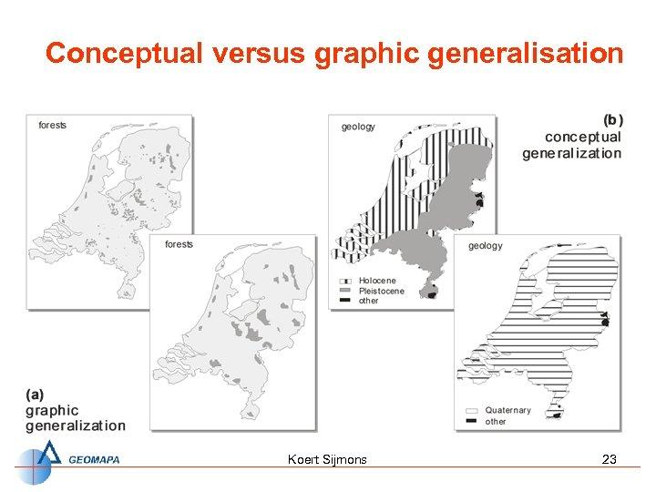 Conceptual versus graphic generalisation Koert Sijmons 23