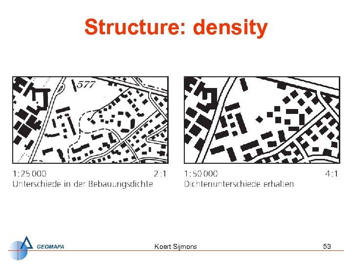Structure: density Koert Sijmons 53