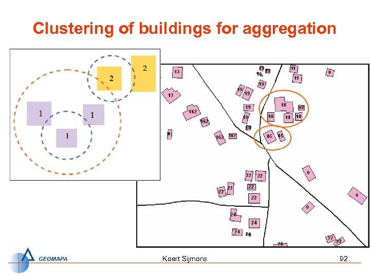 Clustering of buildings for aggregation Koert Sijmons 92