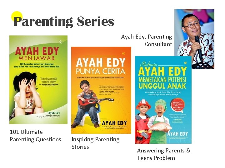 Parenting Series Ayah Edy, Parenting Consultant 101 Ultimate Parenting Questions Inspiring Parenting Stories Answering