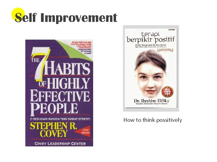 Self Improvement How to think possitively