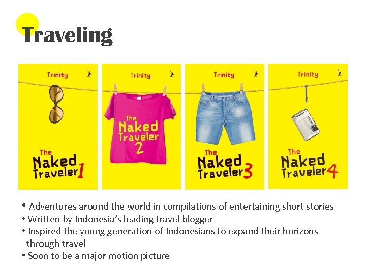 Traveling • Adventures around the world in compilations of entertaining short stories • Written