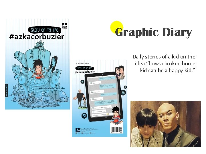 """Graphic Diary Daily stories of a kid on the idea """"how a broken home"""