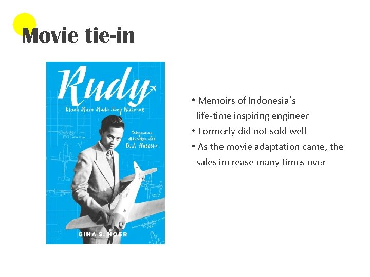 Movie tie-in • Memoirs of Indonesia's life-time inspiring engineer • Formerly did not sold