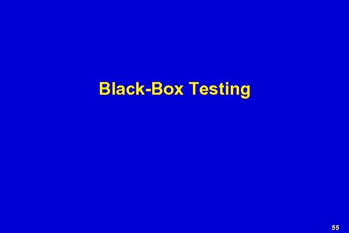 Black-Box Testing 55