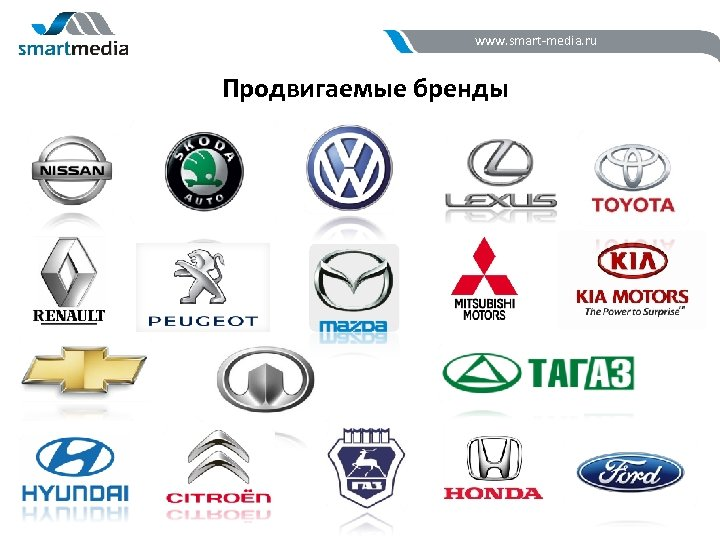 www. smart-media. ru Продвигаемые бренды