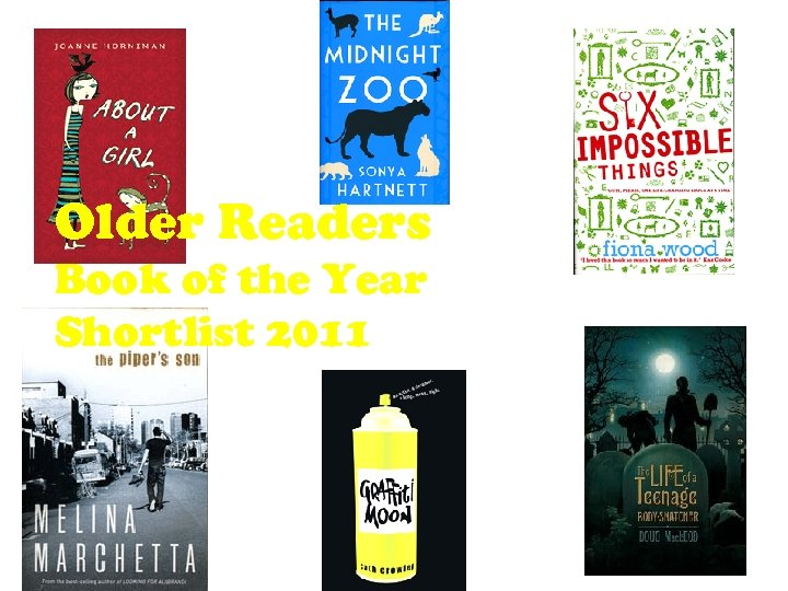 Older Readers Book of the Year Shortlist 2011