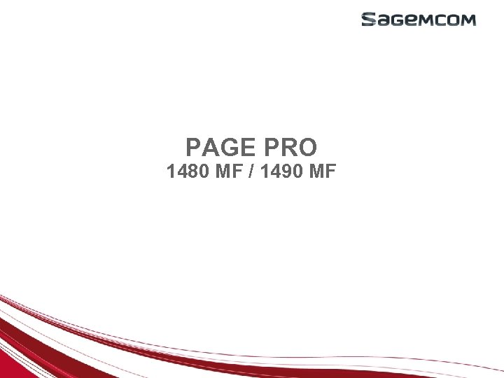 PAGE PRO 1480 MF / 1490 MF