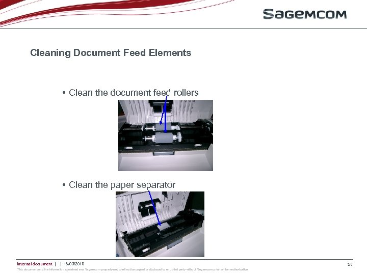 Cleaning Document Feed Elements • Clean the document feed rollers • Clean the paper