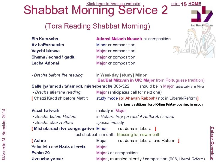 Klick here to hear on website Shabbat Morning Service 2 (Tora Reading Shabbat Morning)