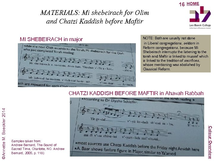 16 HOME MATERIALS: Mi shebeirach for Olim and Chatzi Kaddish before Maftir MI SHEBEIRACH