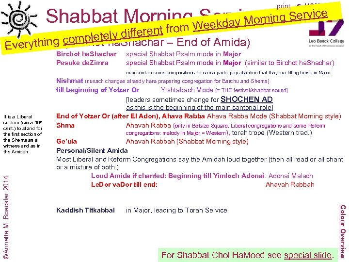 print 6 HOME Shabbat Morning Service o Weekday M rom y different f tel
