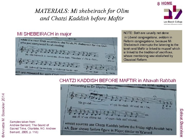 8 HOME MATERIALS: Mi shebeirach for Olim and Chatzi Kaddish before Maftir MI SHEBEIRACH