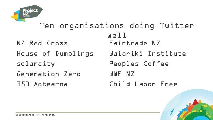 Ten organisations doing Twitter well NZ Red Cross House of Dumplings solarcity Generation Zero