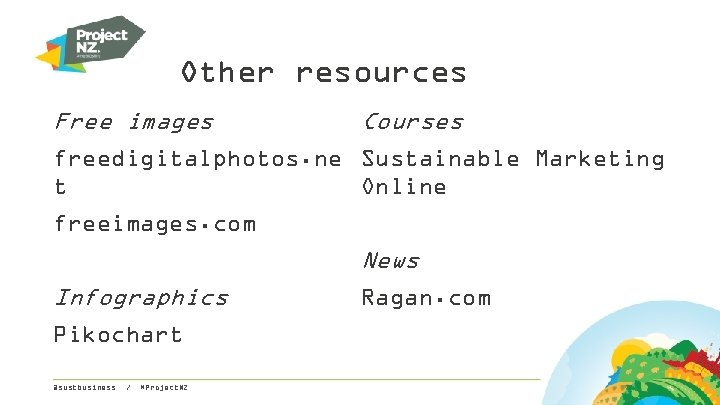 Other resources Free images Courses freedigitalphotos. ne Sustainable Marketing t Online freeimages. com News