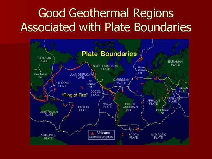 Good Geothermal Regions Associated with Plate Boundaries