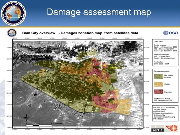 Damage assessment map
