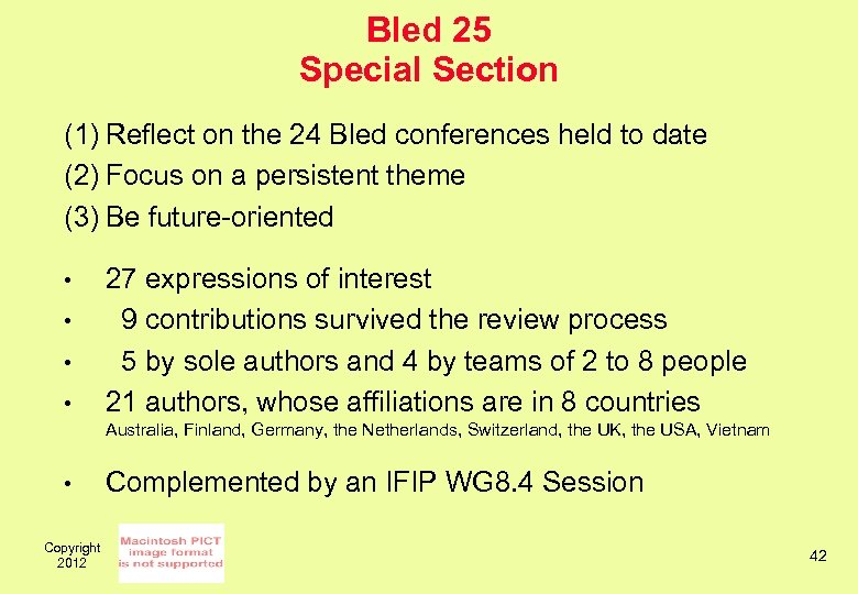 Bled 25 Special Section (1) Reflect on the 24 Bled conferences held to date