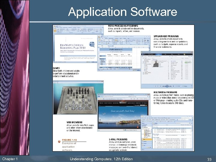Application Software Chapter 1 Understanding Computers, 12 th Edition 33