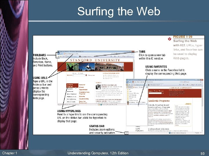 Surfing the Web Chapter 1 Understanding Computers, 12 th Edition 59