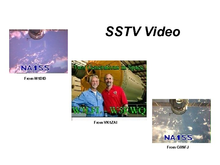 SSTV Video From W 5 DID From VK 5 ZAI From G 0 SFJ