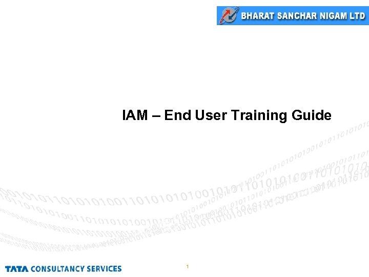 IAM – End User Training Guide 1