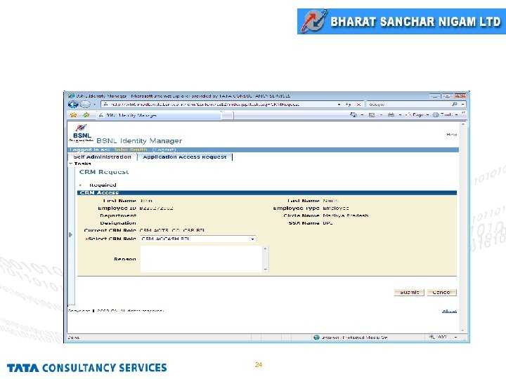 CRM Request Screen 24
