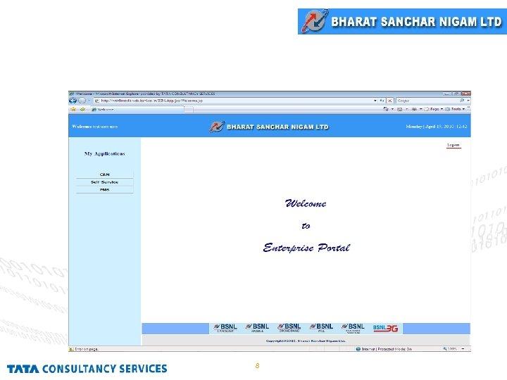 Enterprise Portal Home Page 8