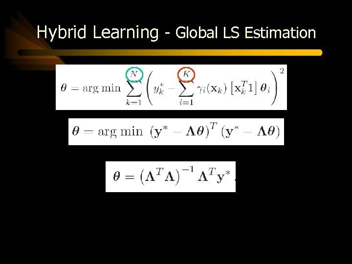 Hybrid Learning - Global LS Estimation