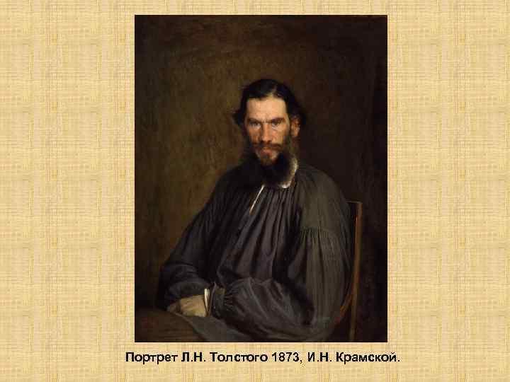 Портрет Л. Н. Толстого 1873, И. Н. Крамской.